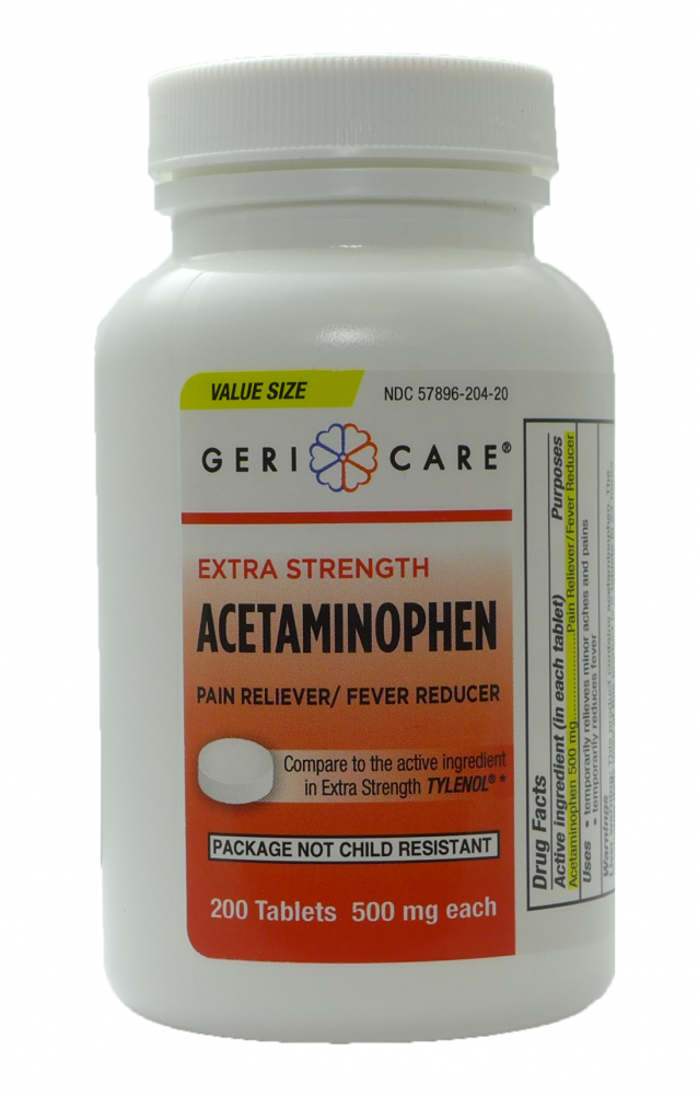 ACETAMINOPHEN TAB 500MG 200/BT