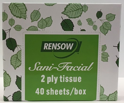 TISSUE FACIAL 2PLY 5X8 40/BOX