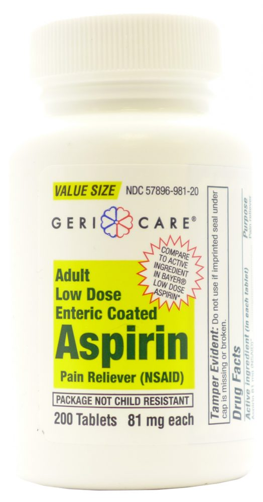 ASPIRIN CTD LOWDOSE 81MG 200/B