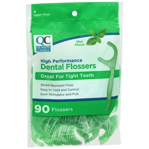 DENTAL FLOSSERS W/PICKMINT 90/