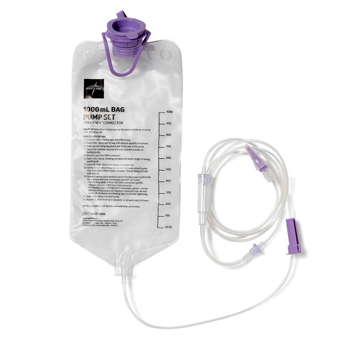 ENTRAFLO PUMP 1000ML BAG SET