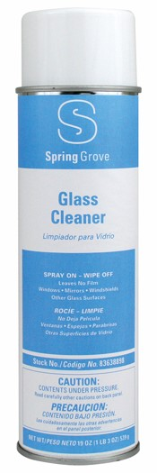 GLASS CLEANER AEROSOL 19 OZ