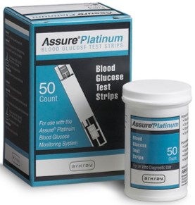 ASSURE PLATINUM STRIPS 50/BX