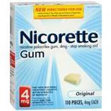 NICORETTE GUM 4MG 110/BX