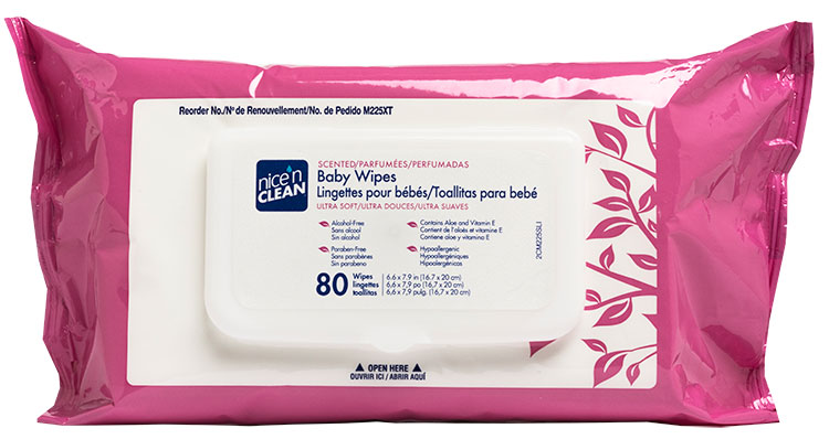 WIPES BABY NICE&CLEAN 7X8 80/P