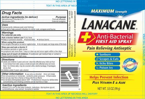 LANACANE SPRAY ANTIBAC MAX STR